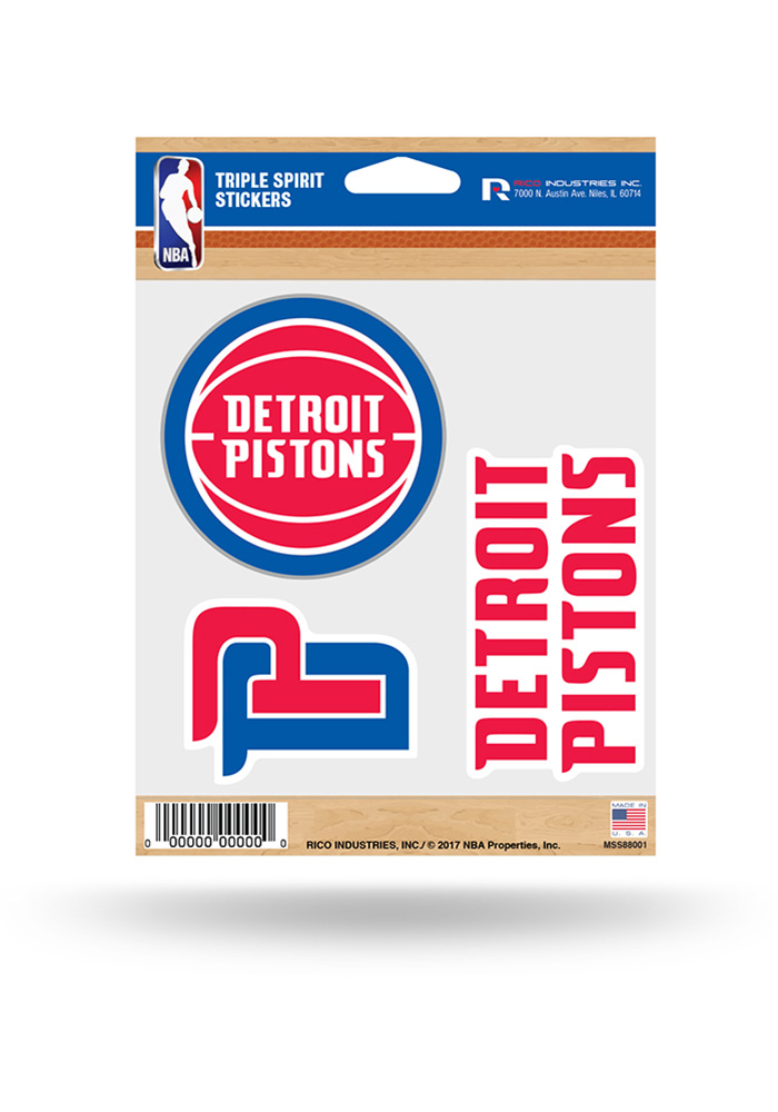 Detroit Pistons 3pk Decal - Image 1