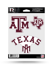 Texas A&M Aggies 3PK Auto Decal - Maroon