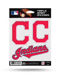 Cleveland Indians 3PK Auto Decal - Red