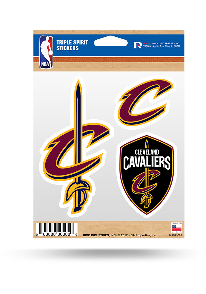 Cleveland Cavaliers 3PK Decal - Image 1