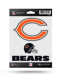 Chicago Bears 3PK Auto Decal - Blue