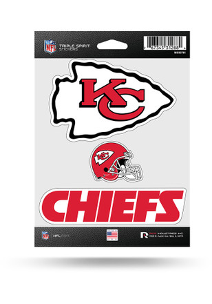 Kansas City Chiefs 3PK Decal