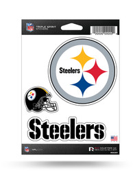 Pittsburgh Steelers 3PK Auto Decal - Yellow