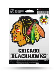 Chicago Blackhawks 3PK Auto Decal - Red