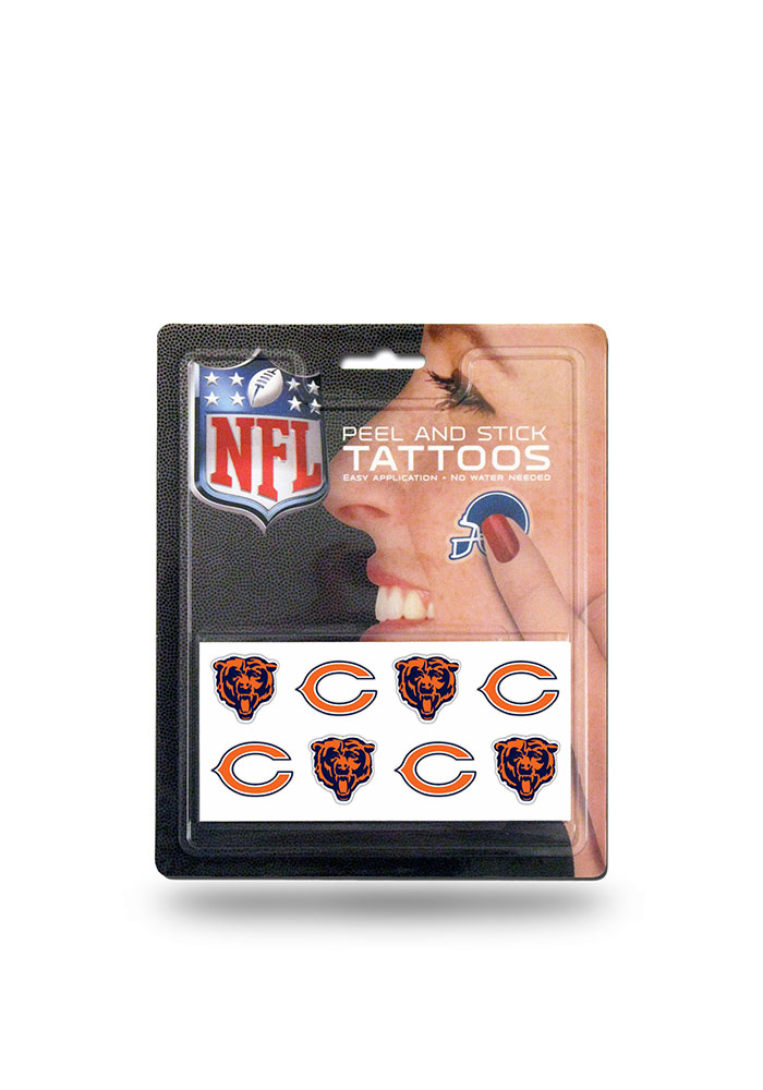 Chicago Bears 8 Pack Peel & Stick Tattoo - Image 1