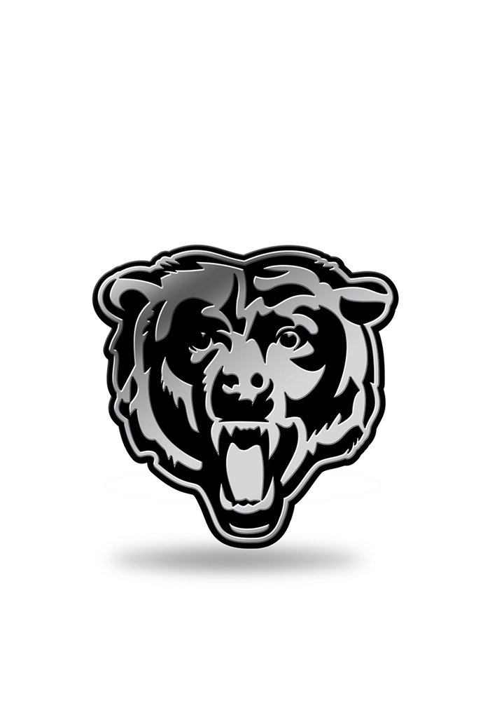Chicago Bears Molded Plastic Car Emblem - Silver - Image 1