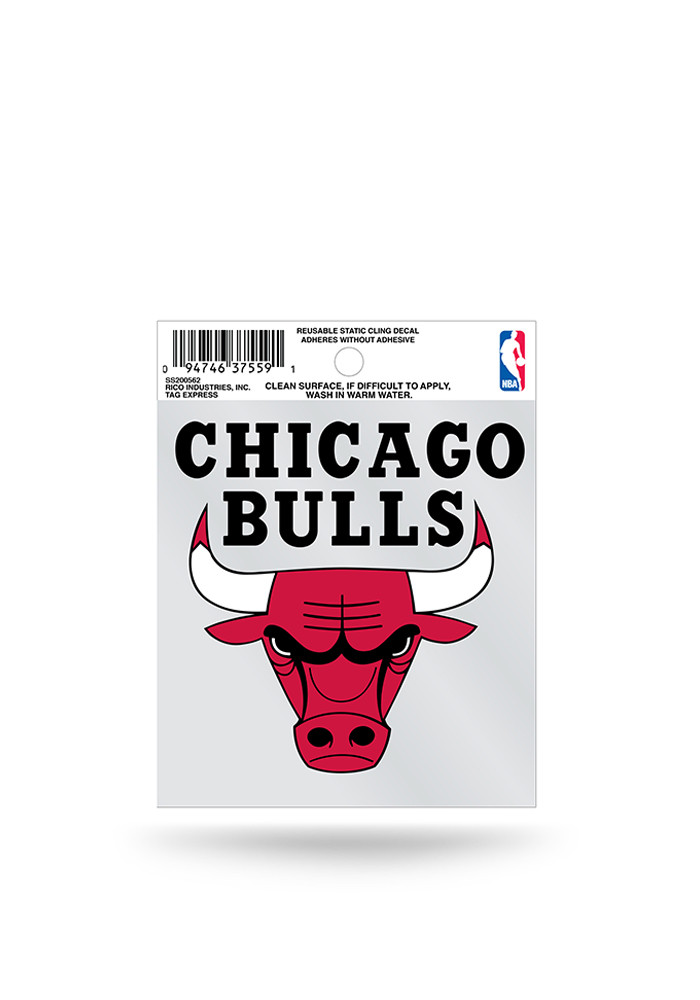 Chicago Bulls Small Auto Static Cling - Image 1