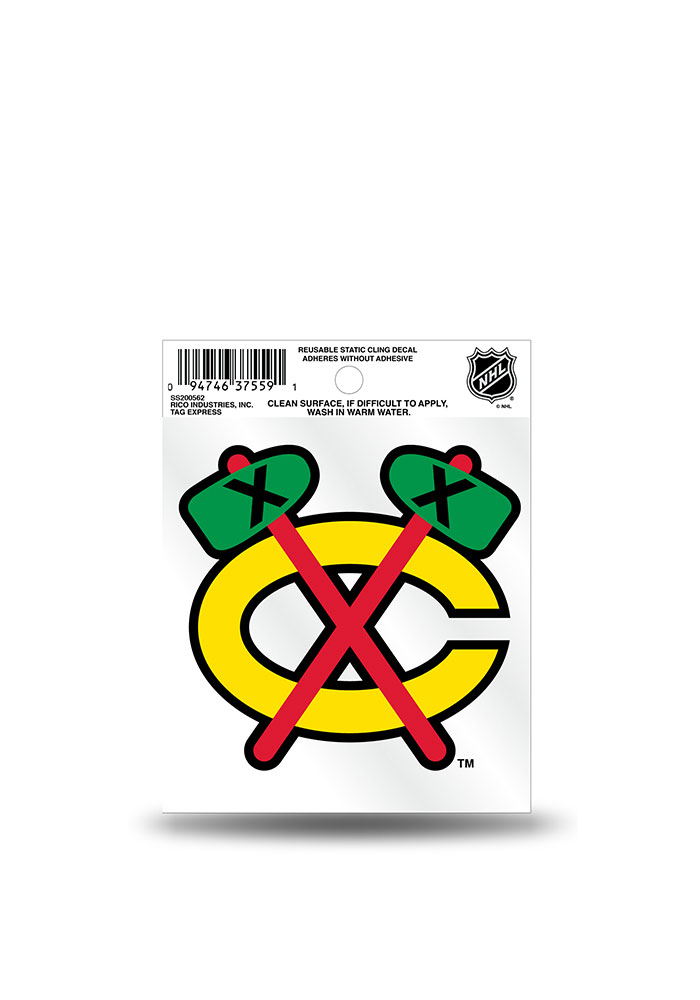 Chicago Blackhawks Small Auto Static Cling - Image 1