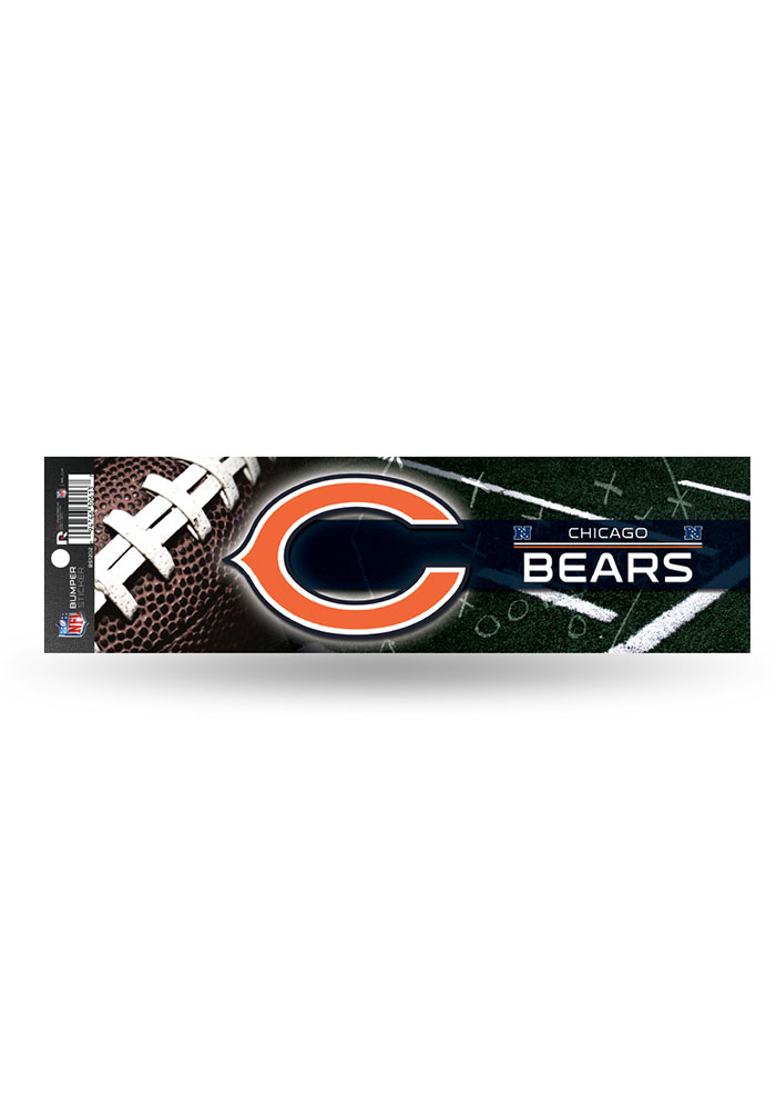 Chicago Bears 3x11.5 Bumper Sticker - Orange - Image 1