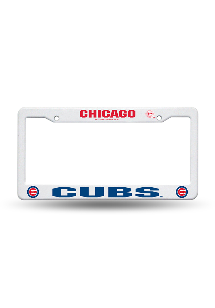 Chicago Cubs White Plastic Car Accessory License Frame 7141470