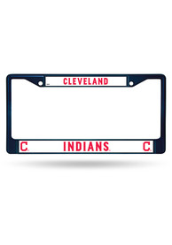 Cleveland Indians Navy Colored Chrome License Frame