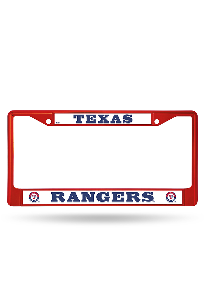 Texas Rangers Red Colored Chrome License Frame - Image 1