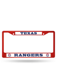 Texas Rangers Red Colored Chrome License Frame