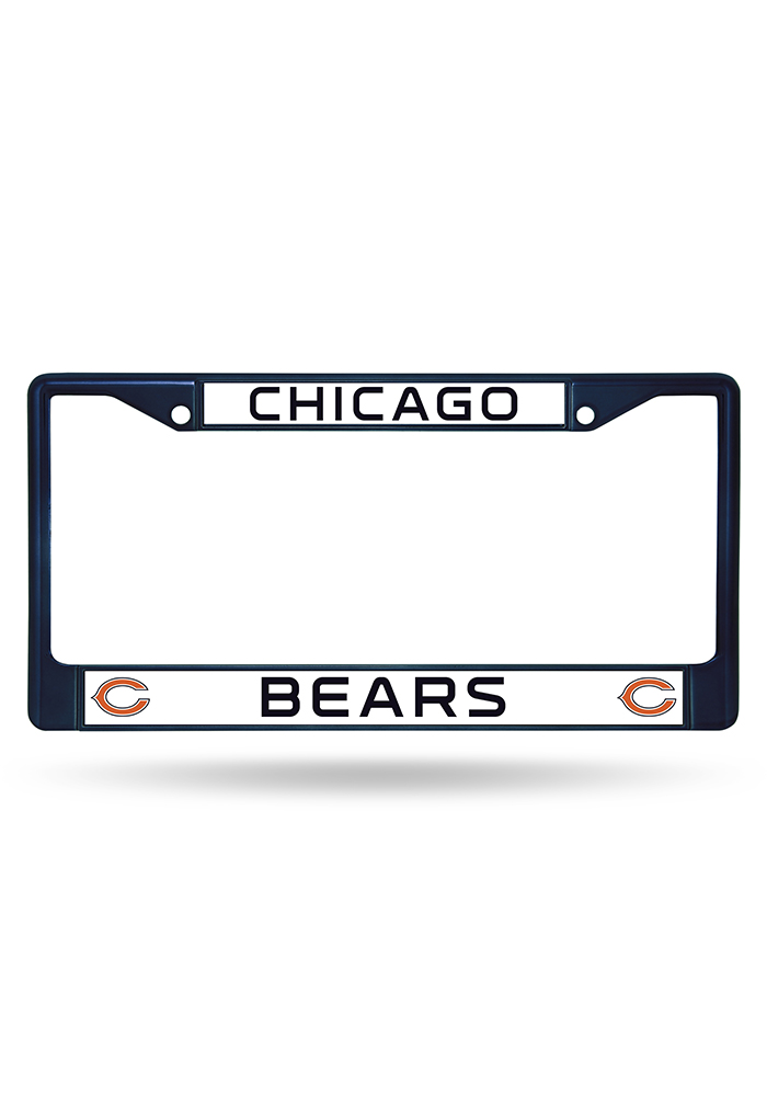 Chicago Bears Navy Colored Chrome License Frame - Image 1