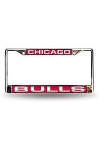 Chicago Bulls Team Name Chrome License Frame