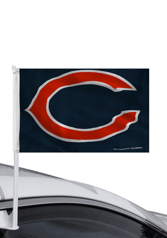Chicago Bears 11x14 Team Logo Car Flag - Image 1