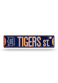 Detroit Tigers Glitter Street Sign
