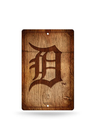 Detroit Tigers Fantique Plastic Wood-Look Sign