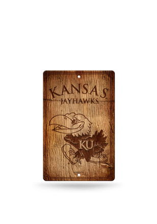 Kansas Jayhawks Fantique Plastic Wood-Look Sign