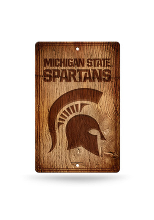 Michigan State Spartans Fantique Plastic Wood-Look Sign