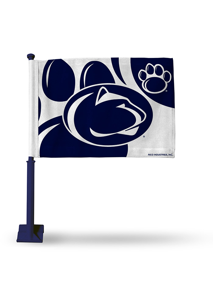 Penn State Nittany Lions 11x16 Silk Screen Print Car Flag - Blue - Image 1