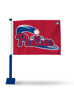 Philadelphia Phillies 11x16 Silk Screen Print Car Flag