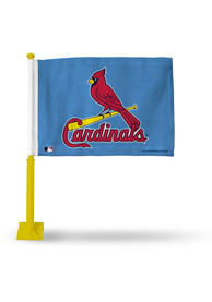 St Louis Cardinals 11x16 Silk Screen Print Car Flag - Red