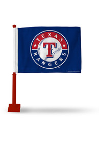 Texas Rangers 11x16 Silk Screen Print Car Flag - Blue