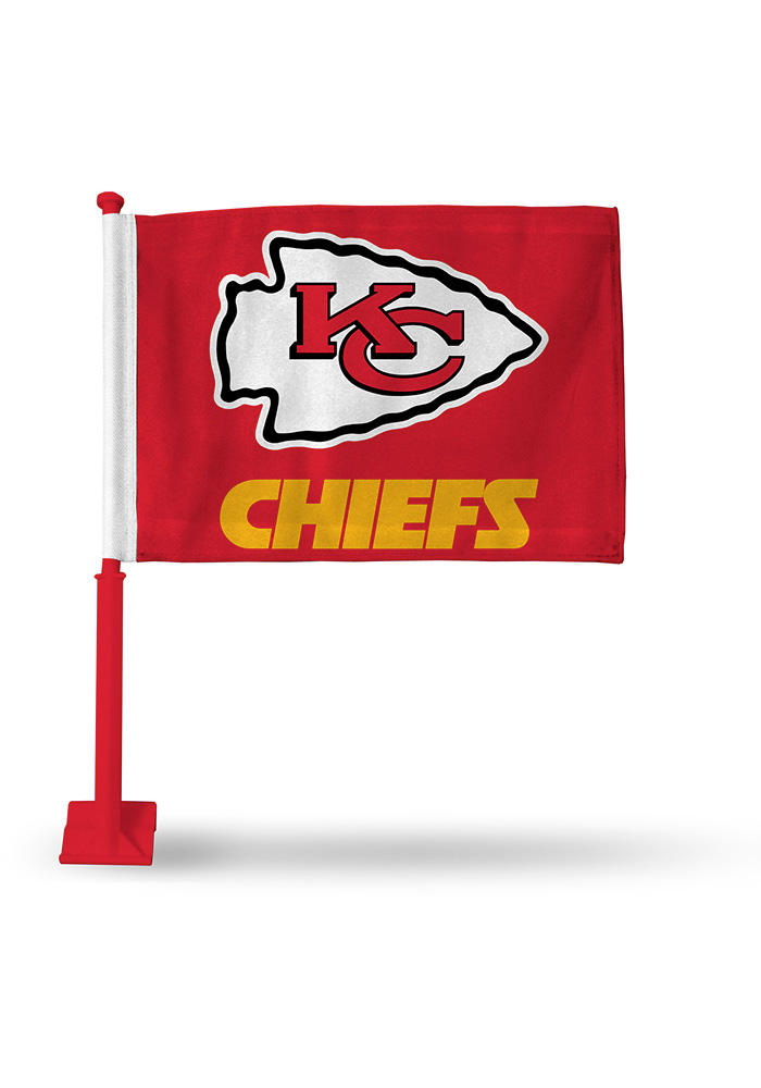 Kansas City Chiefs 11x16 Silk Screen Print Car Flag - Image 1