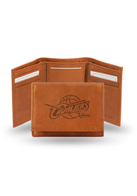 Cleveland Cavaliers Leather Trifold Wallet - Brown