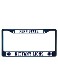 Penn State Nittany Lions Navy Colored Chrome License Frame