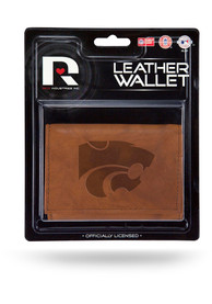K-State Wildcats Manmade Trifold Wallet - Brown