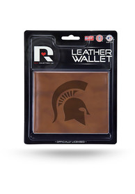Michigan State Spartans Manmade Trifold Wallet - Brown