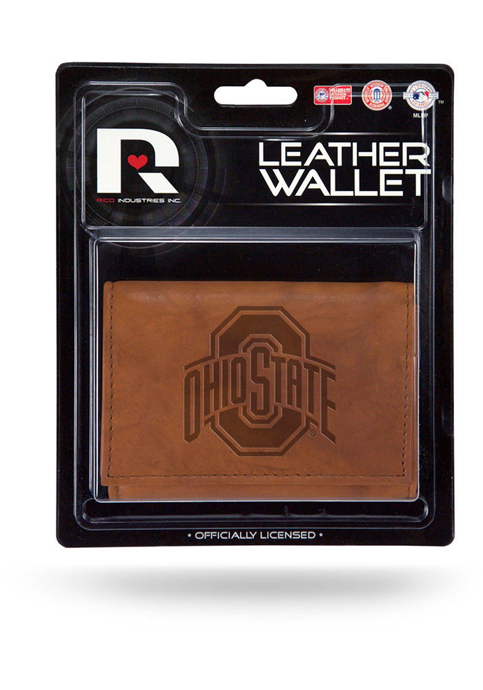 Ohio State Buckeyes Manmade Mens Trifold Wallet - Image 1