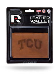TCU Horned Frogs Manmade Trifold Wallet - Brown