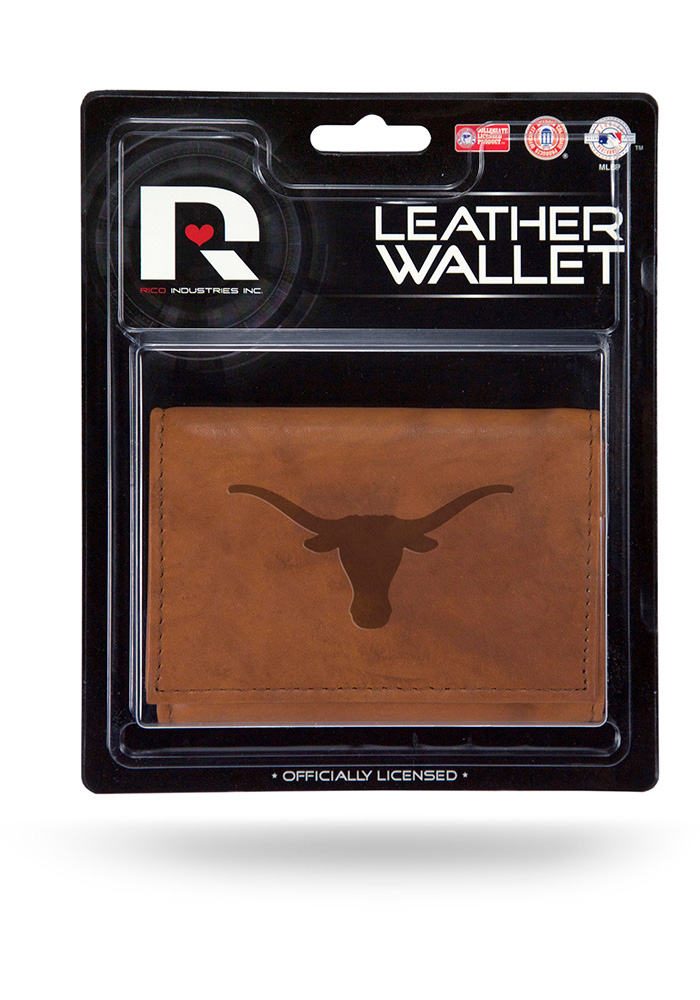 Texas Longhorns Manmade Mens Trifold Wallet - Image 1