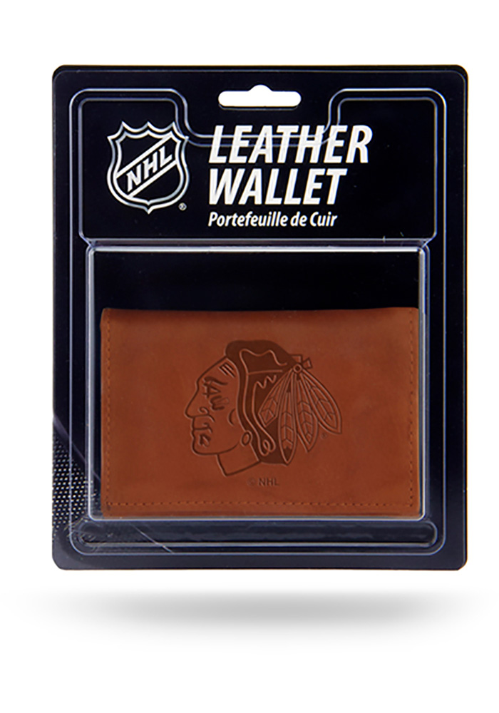 Chicago Blackhawks Manmade Mens Trifold Wallet - Image 1