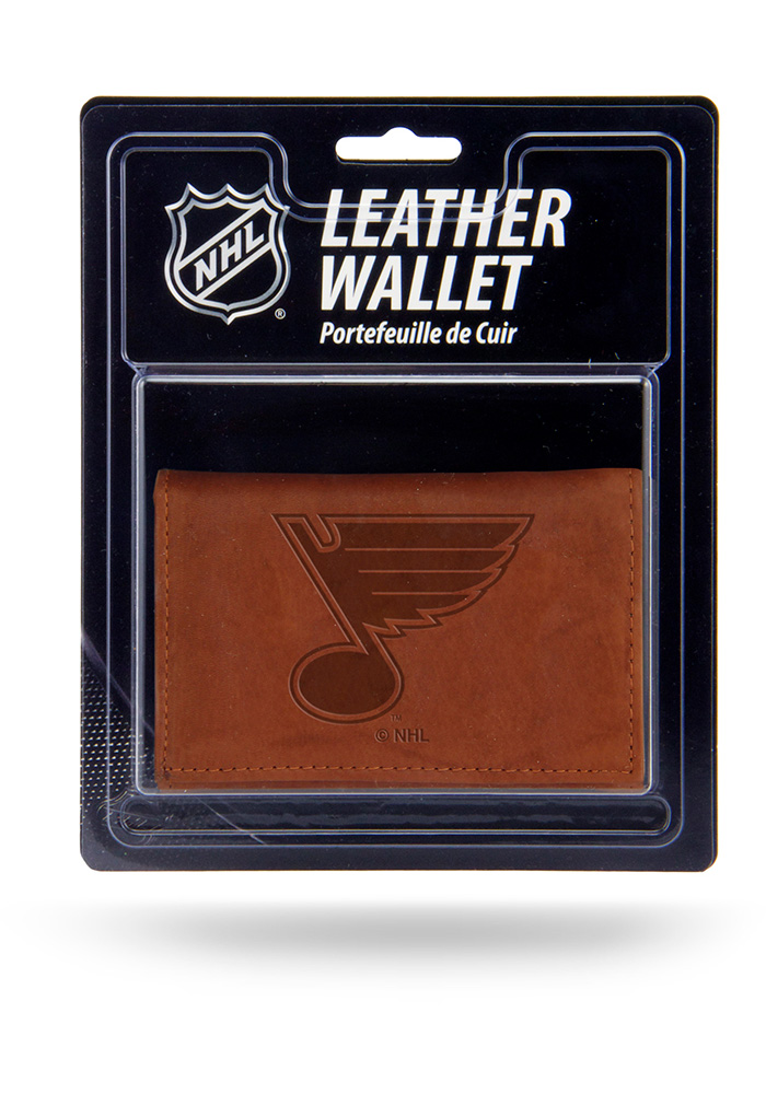 St Louis Blues Manmade Mens Trifold Wallet - Image 1