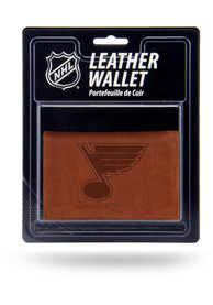 St Louis Blues Manmade Trifold Wallet - Brown
