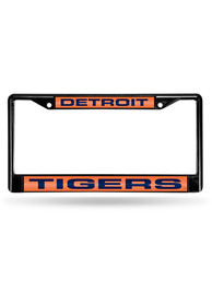 Detroit Tigers Chrome Inlaid License Frame