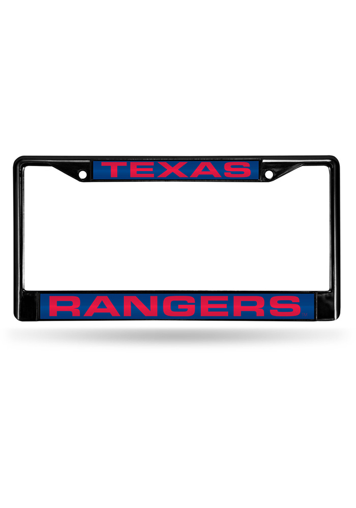 Texas Rangers Chrome Inlaid License Frame - Image 1