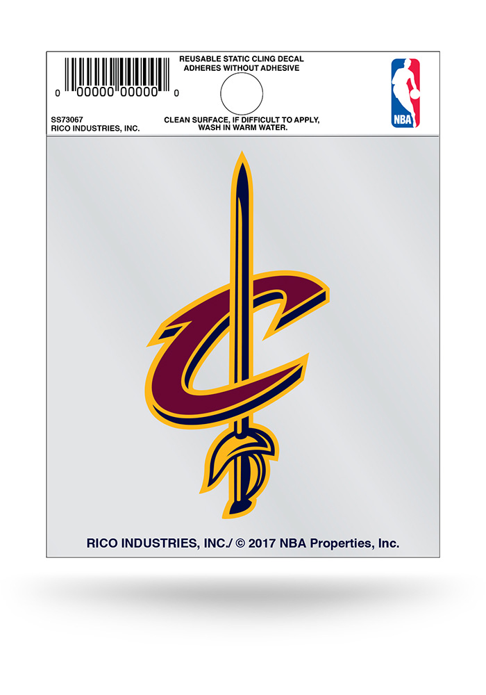 Cleveland Cavaliers Small Auto Static Cling - Image 1