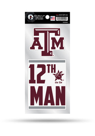 Texas A&M Aggies 2 Pack Die Cut Auto Decal - Maroon