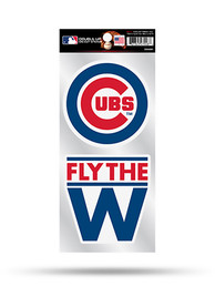 Chicago Cubs 2 Pack Die Cut Auto Decal - Blue