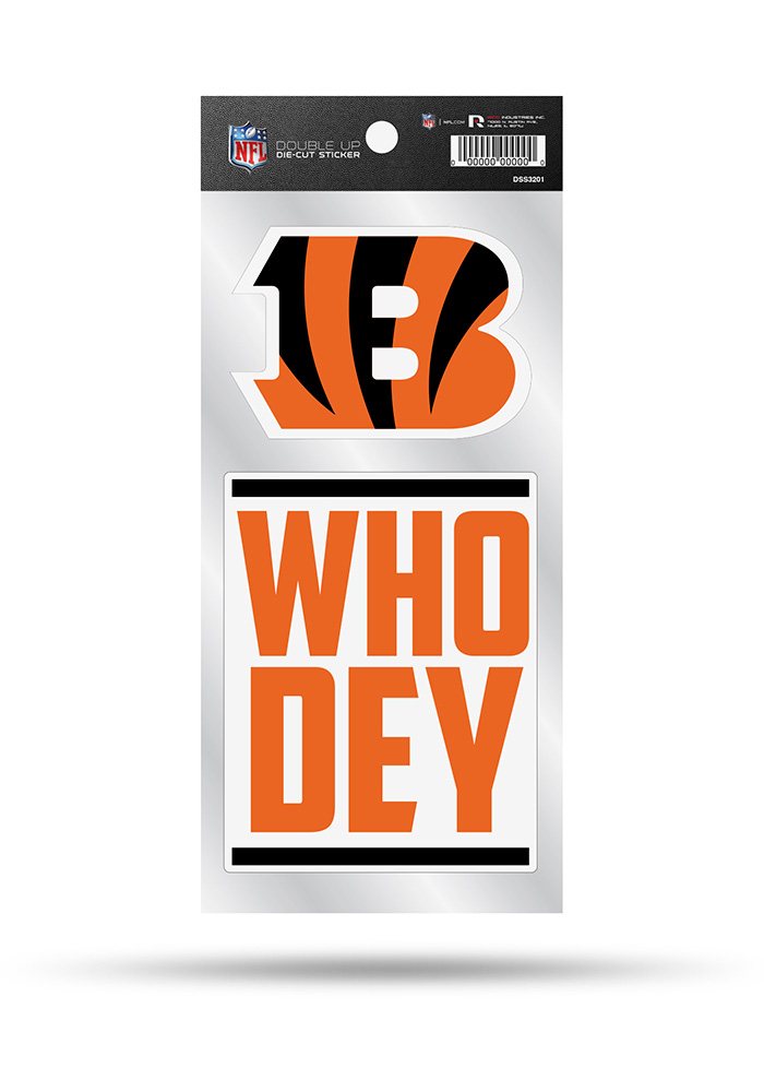 Cincinnati Bengals 2 Pack Die Cut Auto Decal - Orange