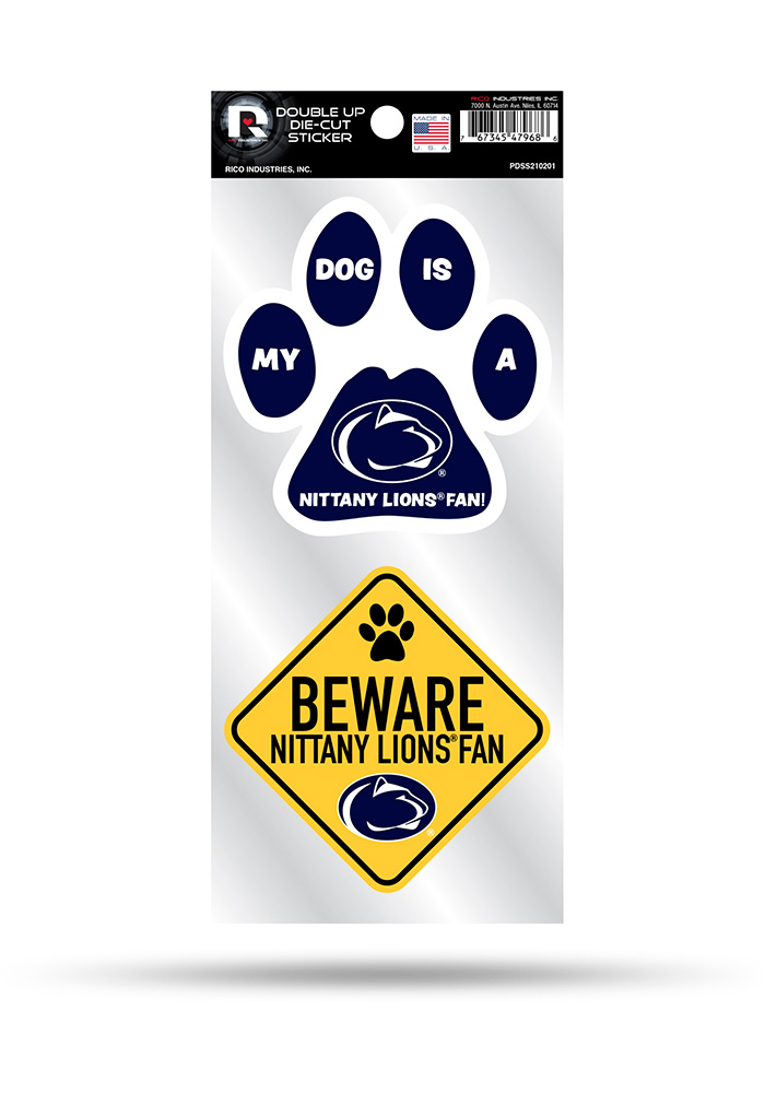 Penn State Nittany Lions 2-Piece Pet Themed Auto Decal - Navy Blue - Image 1