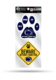 Penn State Nittany Lions 2-Piece Pet Themed Auto Decal - Navy Blue