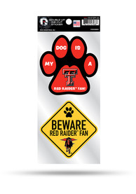 Texas Tech Red Raiders 2-Piece Pet Themed Auto Decal - Black