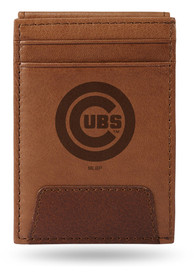 Chicago Cubs Front Pocket Bifold Wallet - Brown
