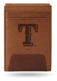 Texas Rangers Front Pocket Bifold Wallet - Brown